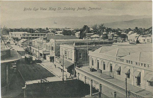 NATHAN & CO LTD Birds Eye View King St. Looking North, Jamaica