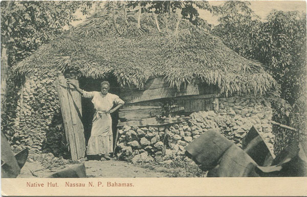 J.O. SANDS Native Hut. Nassau, N.P. Bahamas.