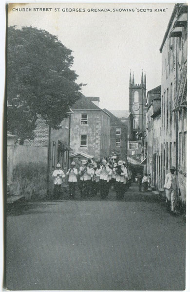 ANON Church Street St Georges Grenada showing Scots Kirk