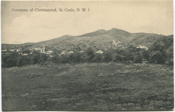 MRS R.D. BENJAMIN Panorama of Christiansted, St Croix, D.W.I.