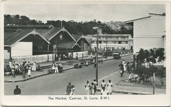 ANON The Market Castries, St Lucia, B.W.I.