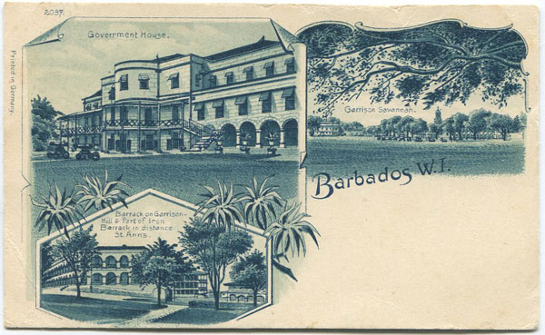 ANON Government House, Garrison Savannah, Barrack on Garrison, Barbados W.I.