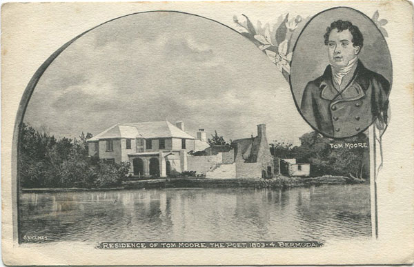 S. NELMES Residence of Tom Moore, the poet, 1803-4. Bermuda.