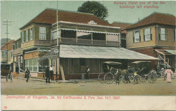 ANON Destruction of Kingston, Ja. by Earthquake & Fire Jan 14th 1907. Burke