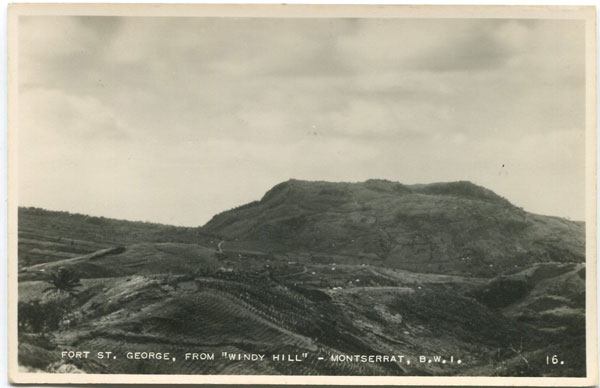 C.E.E. BROWNE Fort St George, from Windy Hill, Montserrat, B.W.I. - No. 16