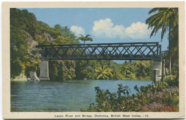 PECO Layou River and Bridge, Dominica, British West Indies - 10