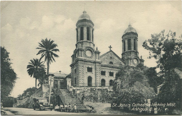 JOSE ANJO St Johns Cathedral looking West, Antigua B W I
