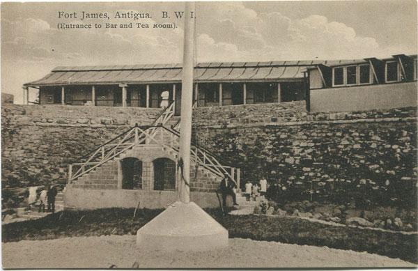 F.R. ANJO Fort James, Antigua, B.W.I. (Entrance to Bar and Tea Room)