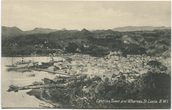 PETER & CO Castries Town and Wharves. St Lucia B.W.I.
