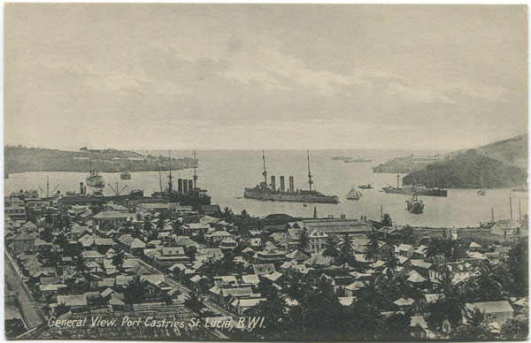 PETER & CO General View. Port Castries. St Lucia B.W.I.