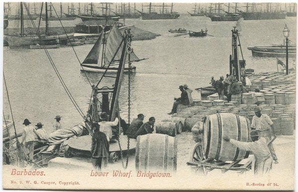 W.G. COOPER Barbados. Lower Wharf. Bridgetown - No 9