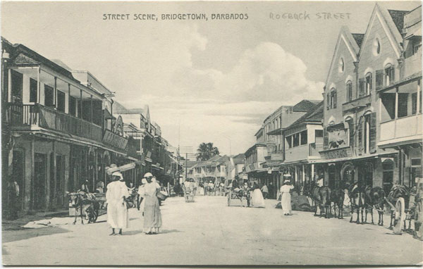 W.L. JOHNSON & CO LTD Street Scene, Bridgetown, Barbados - No 3