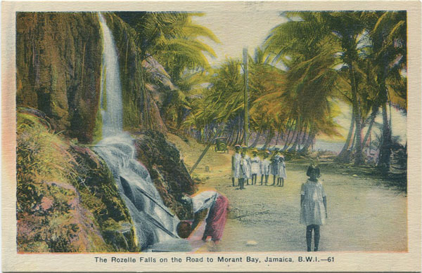 PECO The Rozelle Falls on the road to Morant Bay, Jamaica, B.W.I. - 61