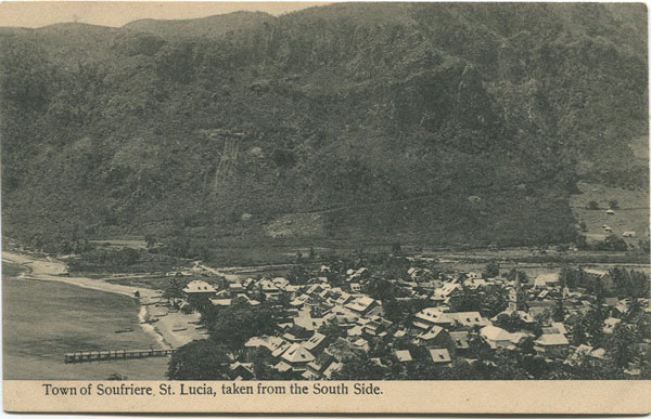 ANON Town of Soufriere, St Lucia, taken from South Side