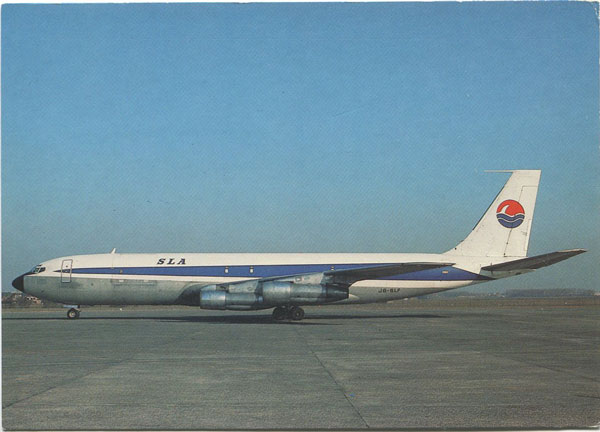 MICHAEL MOSKAL POSTCARDS 100 St Lucia Airways Boeing 707-323C