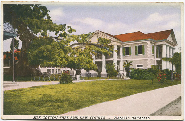 SANDS STUDIO Silk Cotton Tree and Law Courts, Nassau, Bahamas. - No 16  12/10000