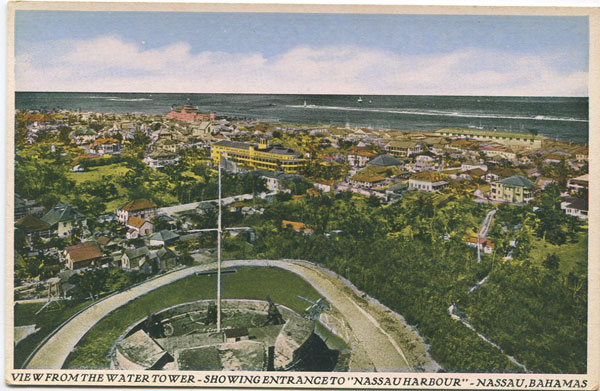 SANDS STUDIO View from Water Tower - Showing entrance to Nassau Harbour, Nassau, Bahamas. - No 37  15/5000