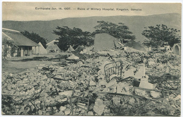 A. DUPERLY & SONS Earthquake 14th January 1907 - Ruins of Military Hospital, Kingston, Jamaica.