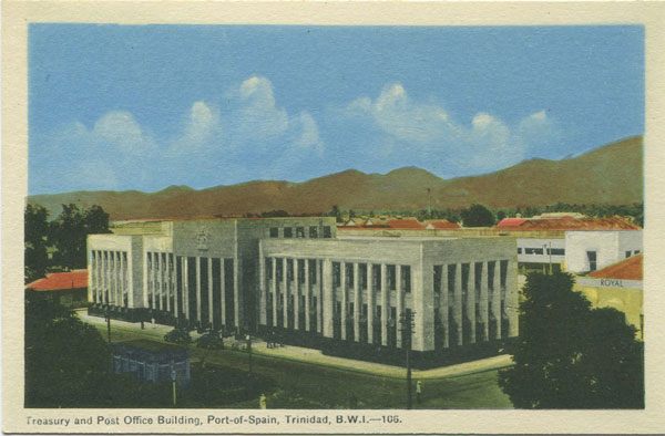 PECO Treasury and Post Office Building, Port of Spain, Trinidad, B.W.I. - No 105