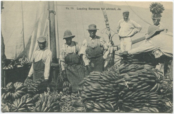 H.S. DUPERLY No 70. Loading bananas for abroad, Ja.