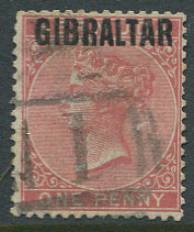 1886 1d (SG2)with forged overprint on genuine Bermuda stamp and Bermuda pmk.