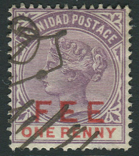 1887 Trinidad Revenue ovptd