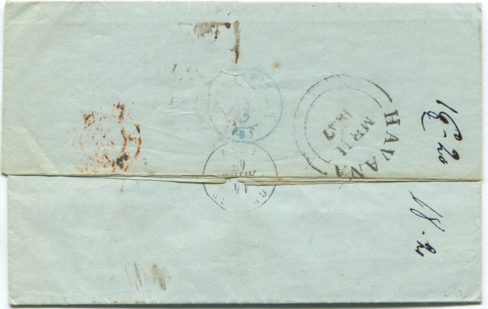 1847 (11 Mar) EL from Cuba to France