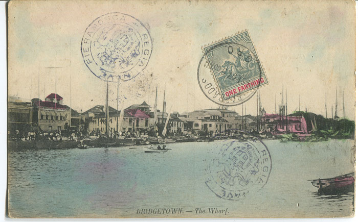 1907 postcard with ¼d tied by GPO cds on picture side.