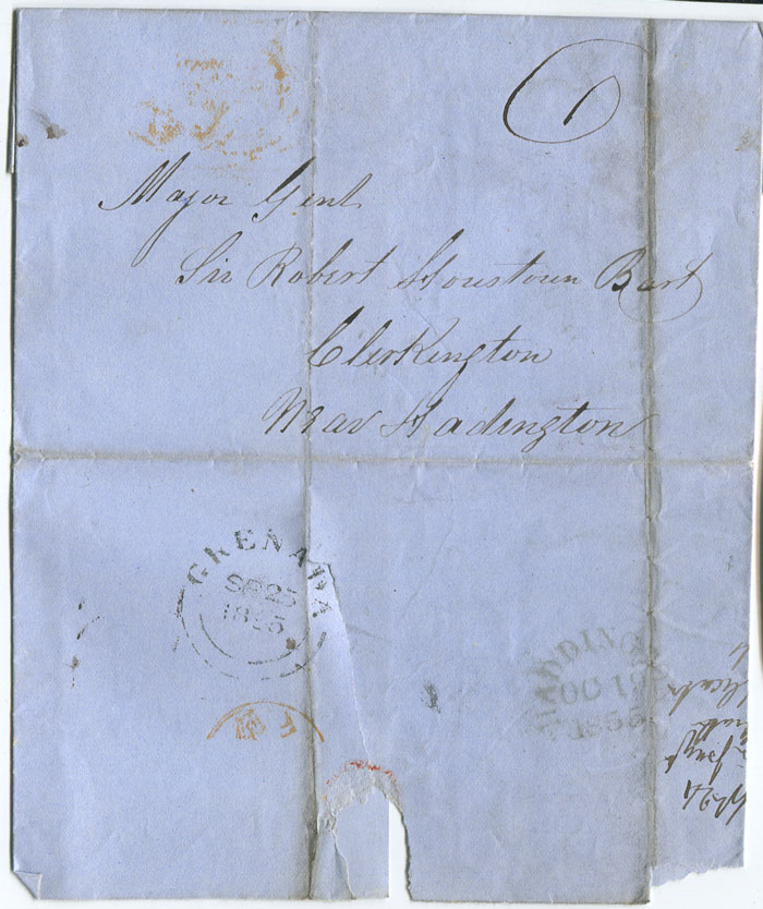 1855 (25 Sep) cover from Grenada to England