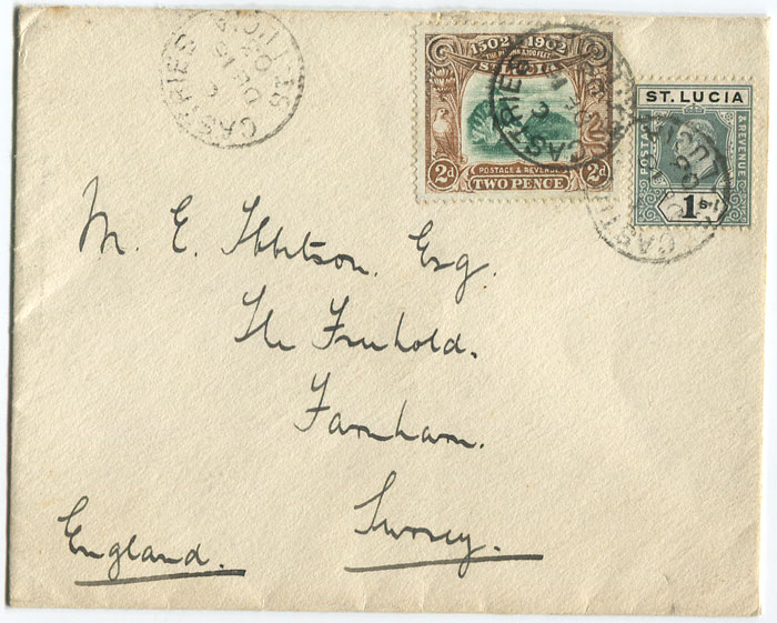 1903 cover from St Lucia to England
