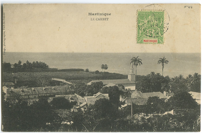 1908 Martinique postcard with view of Le Carbet