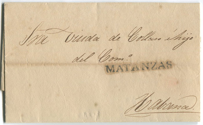 1836 (28 Apr) EL from Matanzas to Havana
