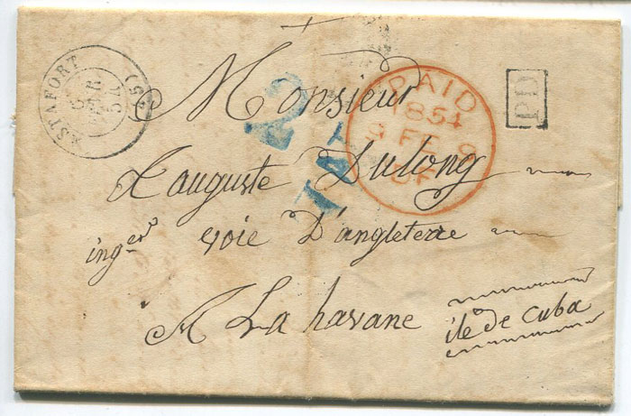 1854 EL from France to Cuba