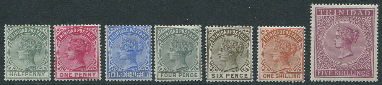 1883-94 Trinidad set to 5/- (SG106-13),