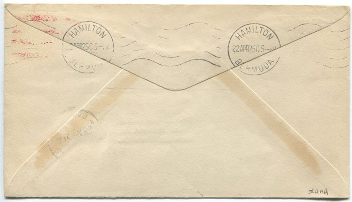 1925 (15 Apr) Zeppelin cover Lakehurst - Bermuda