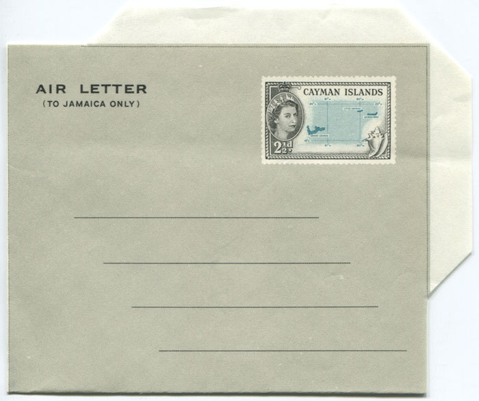 1958 Cayman Islands 2½d postal stationery airletter