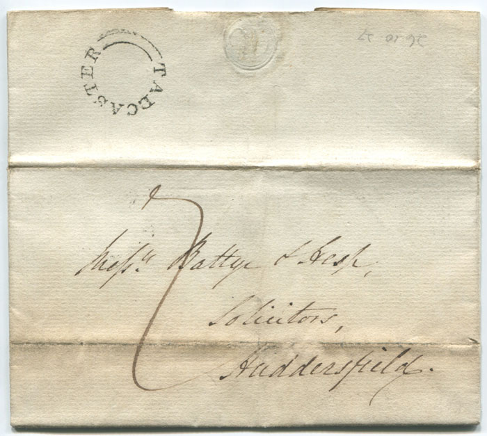 1827 TADCASTER undated circle postmark