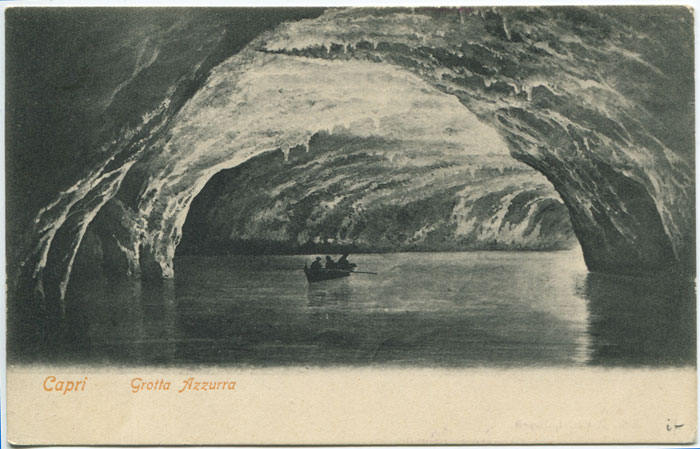 1905 S.Y. ARGONAUT CI LONDON dated cachet on postcard of Capri.