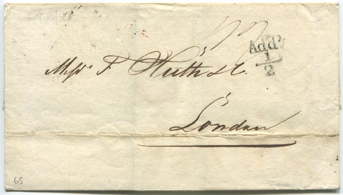 1825 (13 Sep) GLASGOW unboxed Add! ½