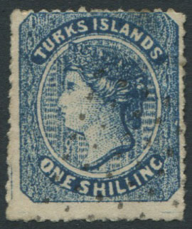 1867 Turks Is. 1/- crude litho forgery