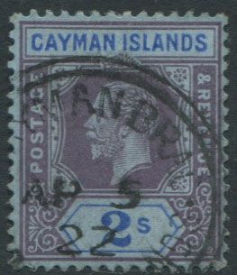 1912-20 Cayman Is. 2/- (SG49),