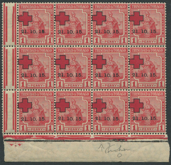 1915 Trinidad Red Cross 1d red (SG174)