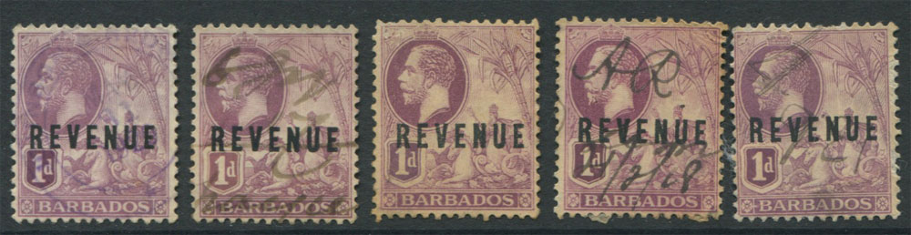 REVENUES: Barbados GV revenues selection, all used. (5)