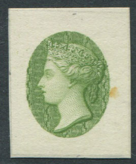 1860 St Lucia reprinted head proof