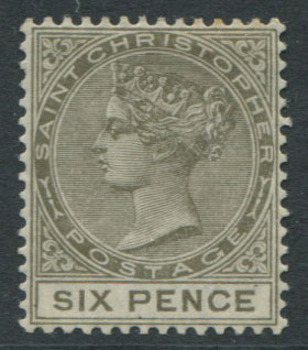 1882-90 Crown CA, 6d olive-brown (SG19),
