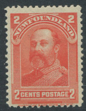 1897-1918 Newfoundland 2c orange (SG86), King Edward VII when Prince of Wales, m.m.