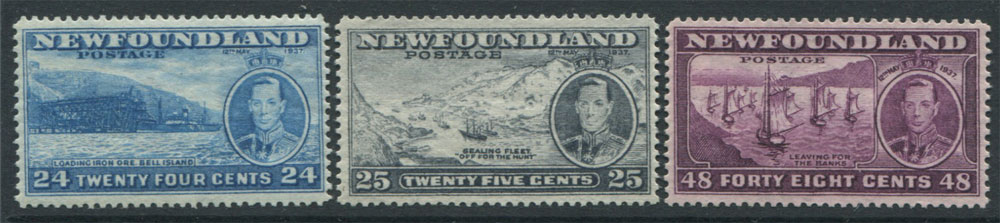 1937 Newfoundland Coronation set to 48c (SG257-67), u.m. (11)