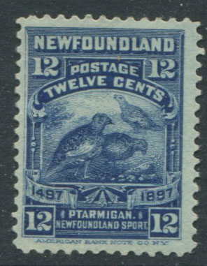 1897 Newfoundland 400th Anniversay of Discovery, 12c deep blue (SG74), fine o.g.