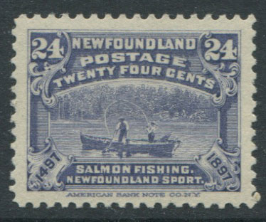 1897 Newfoundland 400th Anniversay of Discovery, 24c dull violet-blue (SG76), m.m.