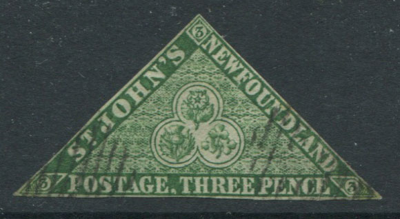1860 Newfoundland medium hand-made paper without mesh, 3d deep green (SG11)